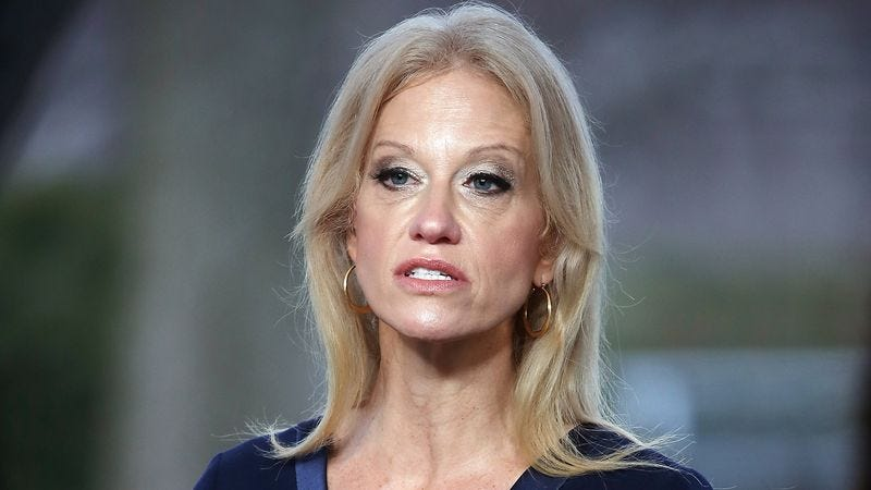 Illustration for article titled 'I Have Four Young Children,' Says Kellyanne Conway In Most Disturbing Public Statement To Date
