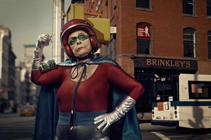 Illustration for article titled Concept Art Writing Prompt: Superhero Grandma