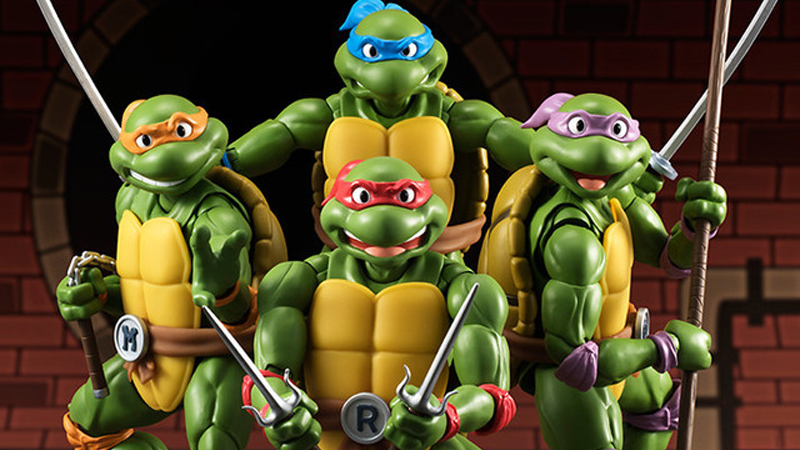 Illustration for article titled These Teenage Mutant Ninja TurtlesFigures Look Like They've Stepped Right Out of the Cartoon