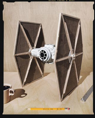 Illustration for article titled Over-caffeinated TIE Fighter Combines Starbucks And Star Wars