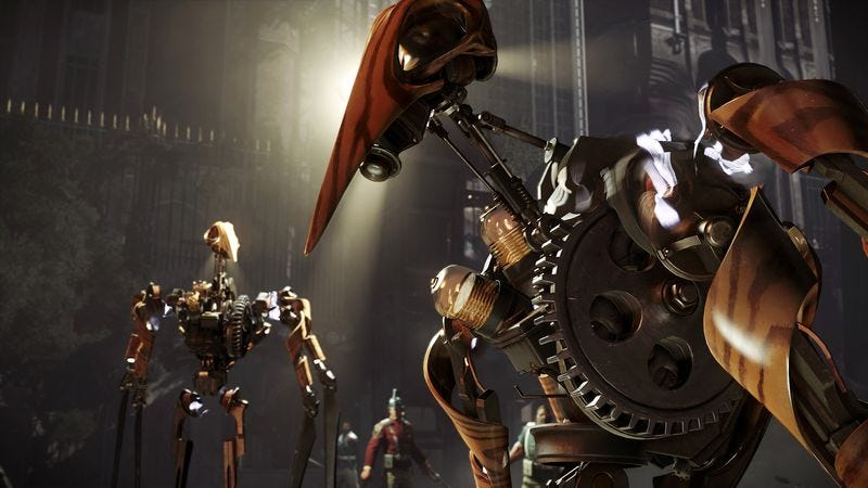 The Clockwork Soldiers of Dishonored 2. (Screenshot: Bethesda Softworks)
