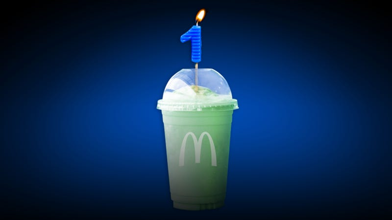 Illustration for article titled A newbie tastes McDonald's Shamrock Shake for the first time