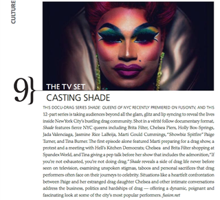 Illustration for article titled 'Shade reveals a side of drag life never before seen on television' - Metrosource