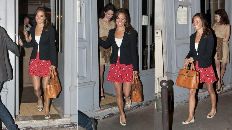 Illustration for article titled Fashion Icon Pippa Middleton Commits Ultimate Pantyhose Sin