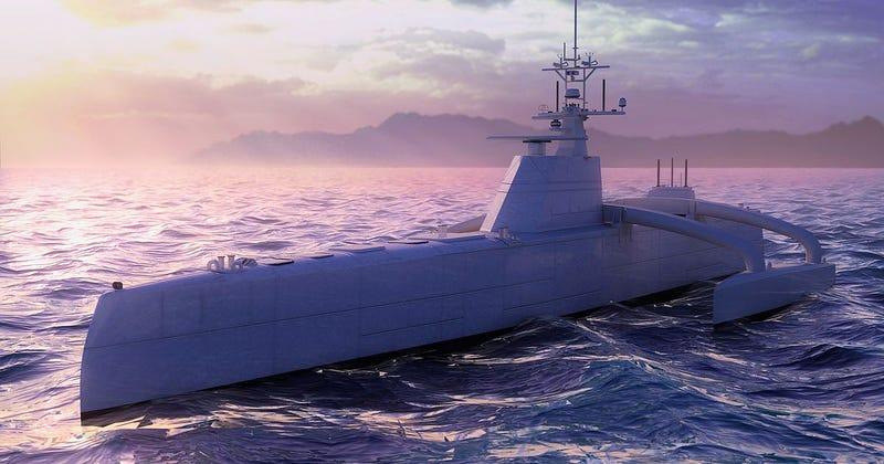 Illustration for article titled DARPA's Unmanned Submarine Stalker Could Change Naval Warfare Forever
