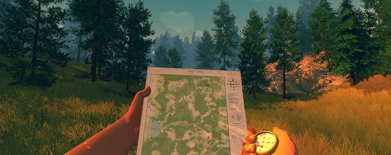 Illustration for article titled Firewatch Gets Co-op Play Via Printable Maps