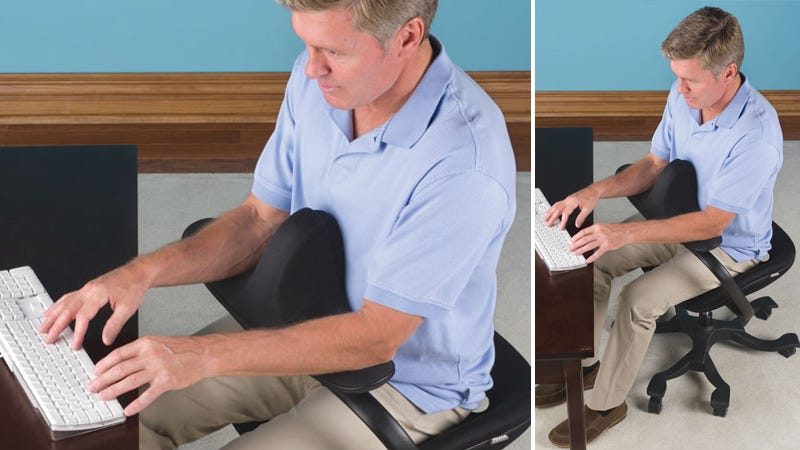 Illustration for article titled Perfect Posture Can't Be Worth a Chair This Awkward