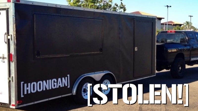 Illustration for article titled Someone Stole A Trailer From Hoonigan This Weekend, Let's Find It