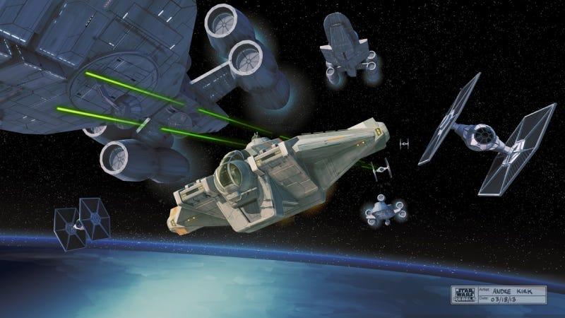 Illustration for article titled Primeras imágenes de la próxima serie de Star Wars, Rebels