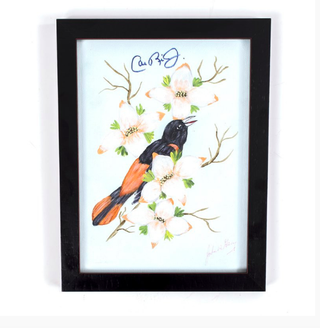 Did Cal Ripken Jr. Sign This Painting Of An Oriole By John Wayne Gacy?