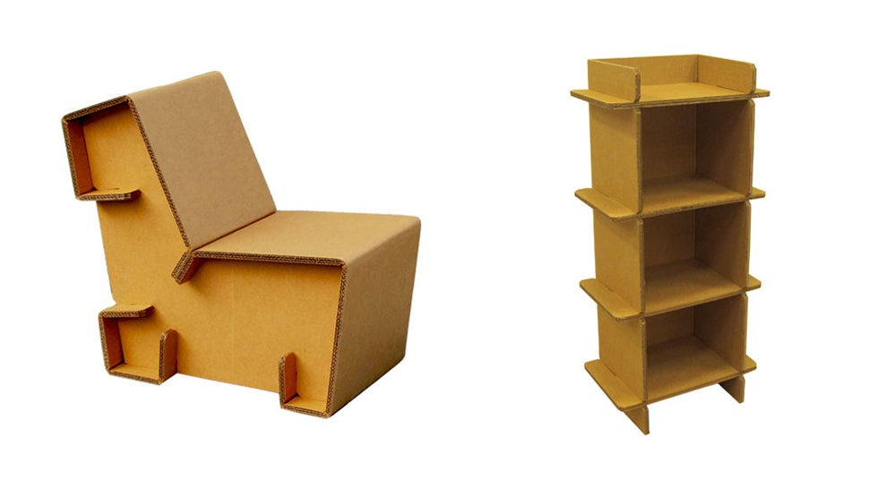 Refoldable Cardboard Furniture Makes It Cheap And Easy To Mosey On