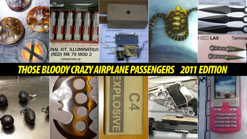 Illustration for article titled The Top 10 Craziest Things Caught At Airport Security In 2011