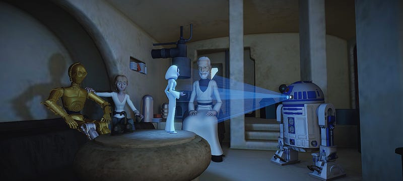 Illustration for article titled These 3D Star Wars Animations Are Incredibly Fun To Play With