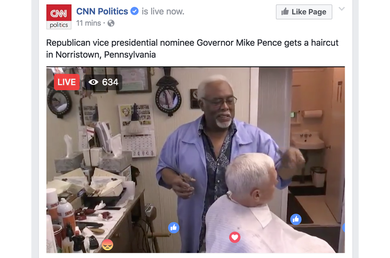 Illustration for article titled Live Sports: Mike Pence Getting A Hair Cut