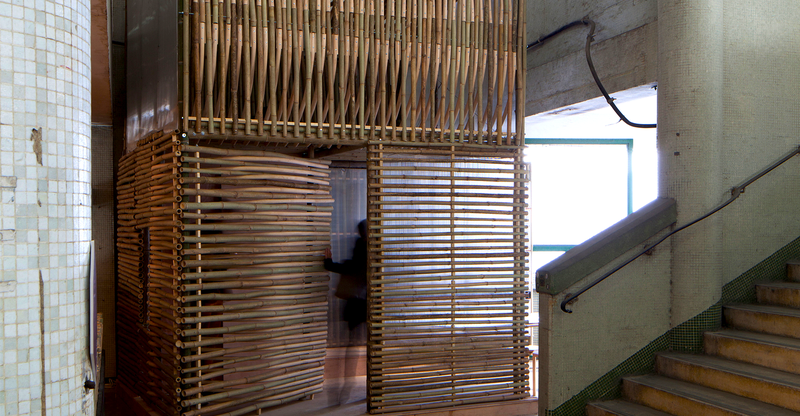 Illustration for article titled These Bamboo Micro-Homes Would Turn Abandoned Buildings Into Villages