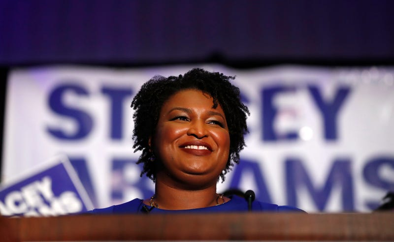 Democratic candidate for Georgia governor Stacey Abrams speaks during an election night watch party May 22, 2018, in Atlanta.
