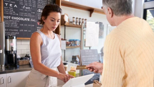 Female Barista Getting A Lot Better At Avoiding Touching Male Patrons' Hands When They Pay