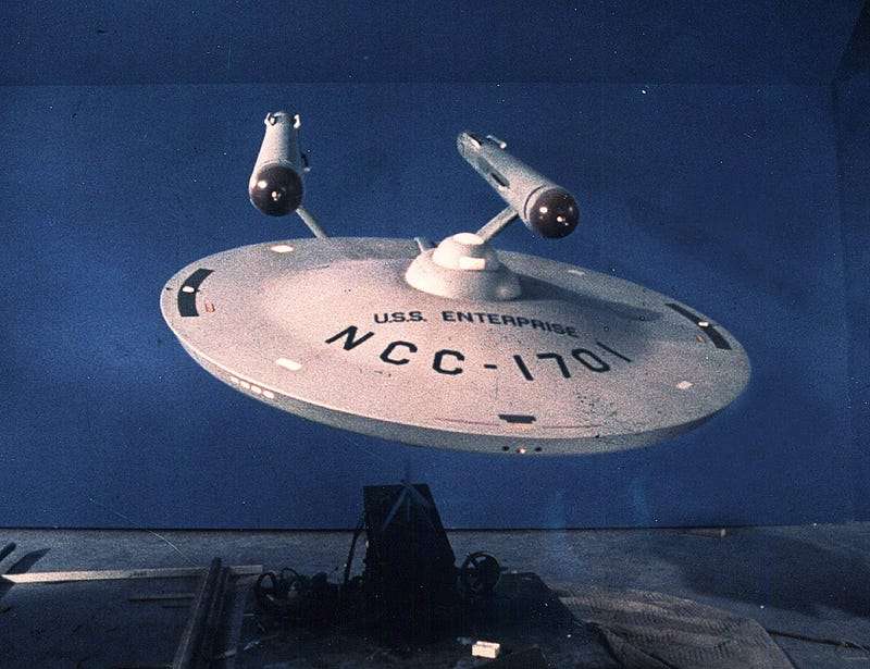 Illustration for article titled The Original USS Enterprise model is being restored to its former glory