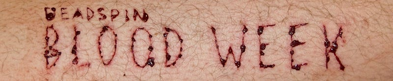 Illustration for article titled Next Week Is Deadspin's Inaugural Blood Week: Submit A Story, Please