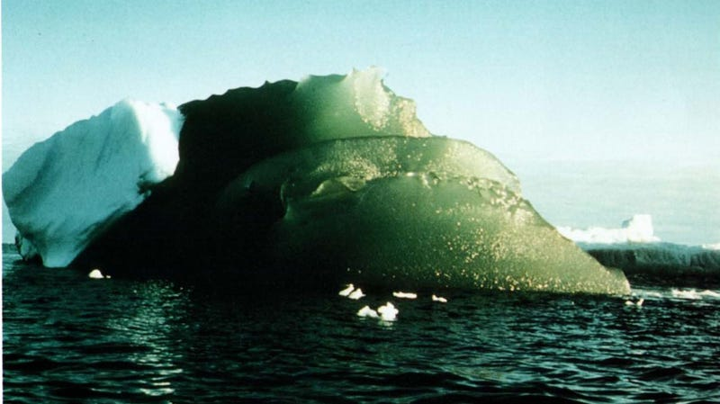 A green iceberg spotted in Antarctica's Weddel Sea in 1985.