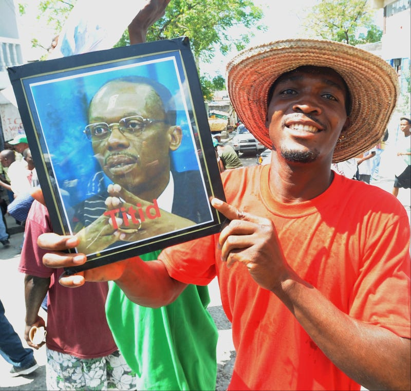 A supporter of former Haitian President Aristide (Thony Belizaire/Getty Images)
