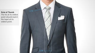 Illustration for article titled Find the Perfect Tie to Match Your Suit with the Lapel Rule