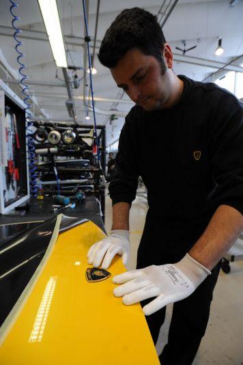 Illustration for article titled Lamborghini Factory Tour: Photos
