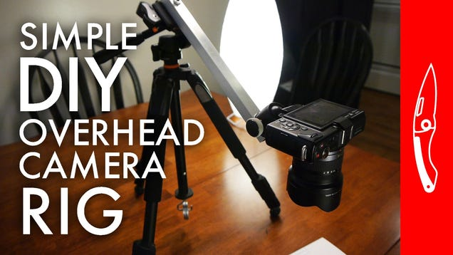 This Diy Overhead Camera Mount Is To Make And Won T Take Up A Ton Of E