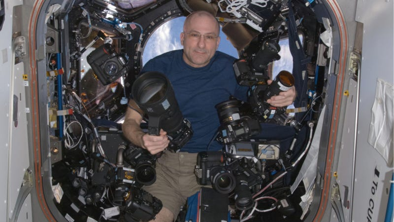 Illustration for article titled How Many Cameras Does One Astronaut Really Need?