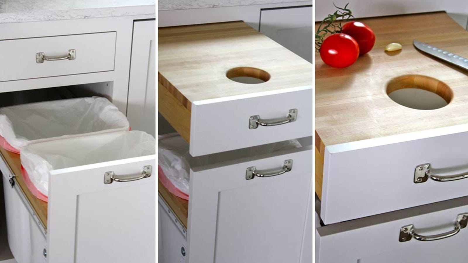 Built In Cutting Board Drawer Is A Secret Place To Slice