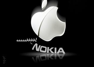 Illustration for article titled Nokia Moves To Ban Apple Imports, Apple Moves To Ban Nokia Imports