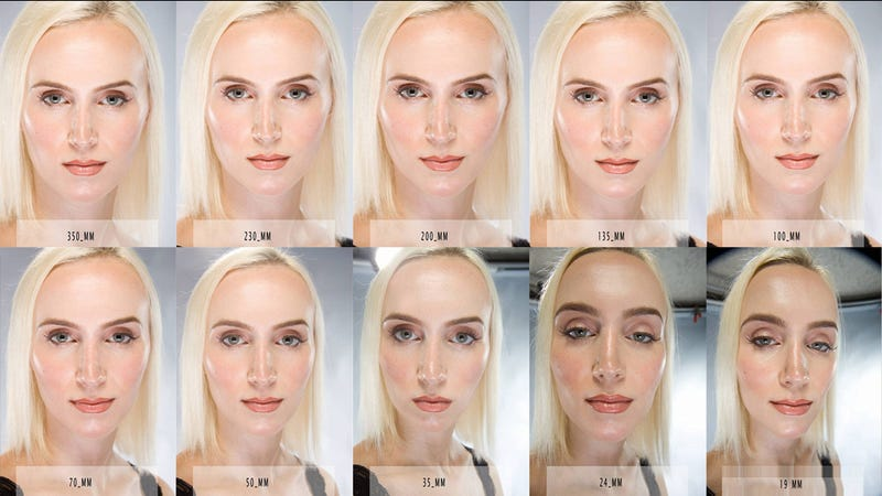 This Image Shows How Camera Lenses Beautify Or Uglify Your Pretty Face - How focal lengths can change the shape of your face