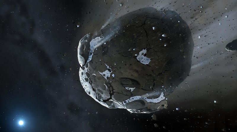 Illustration for article titled Earth's Oceans May Have Crash-Landed via Ancient Asteroids