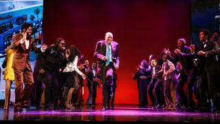 Berry Gordy dances onstage with the cast of Motown the Musical at the Pantages Theatre on April 30, 2015, in Hollywood, Calif.Rich Polk/Getty Images for Hollywood Pantages