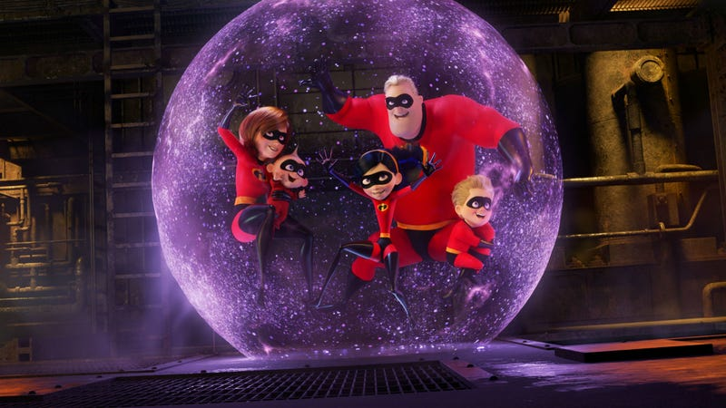 "The Incredibles are back, minus the ""The,"" in Incredibles 2."