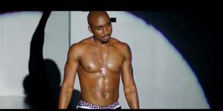 Demetrius Shipp Jr. as Tupac in the upcoming film All Eyez on MeYouTube screenshot