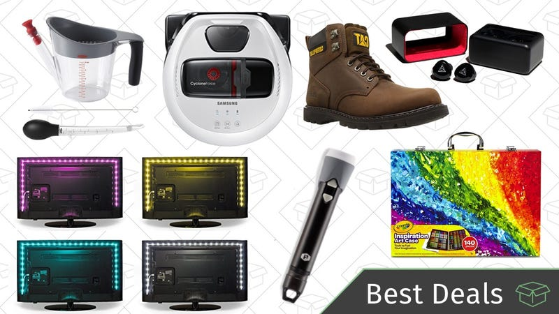 Illustration for article titled Tuesday's Best Deals: Bias Lighting, Amazon Music Unlimited, Plasma Lighter Flashlight, and More