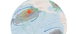 Illustration for article titled El plástico del mar está desapareciendo. Este mapa quiere encontrarlo