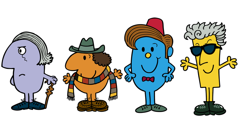Illustration for article titled There's Going to Be a Whole Line of Doctor Who-themed Mr. Men Books