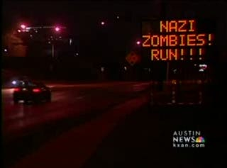 Illustration for article titled Austin,TX Overrun By Zombie Jokes, Hacked Electronic Road Signs
