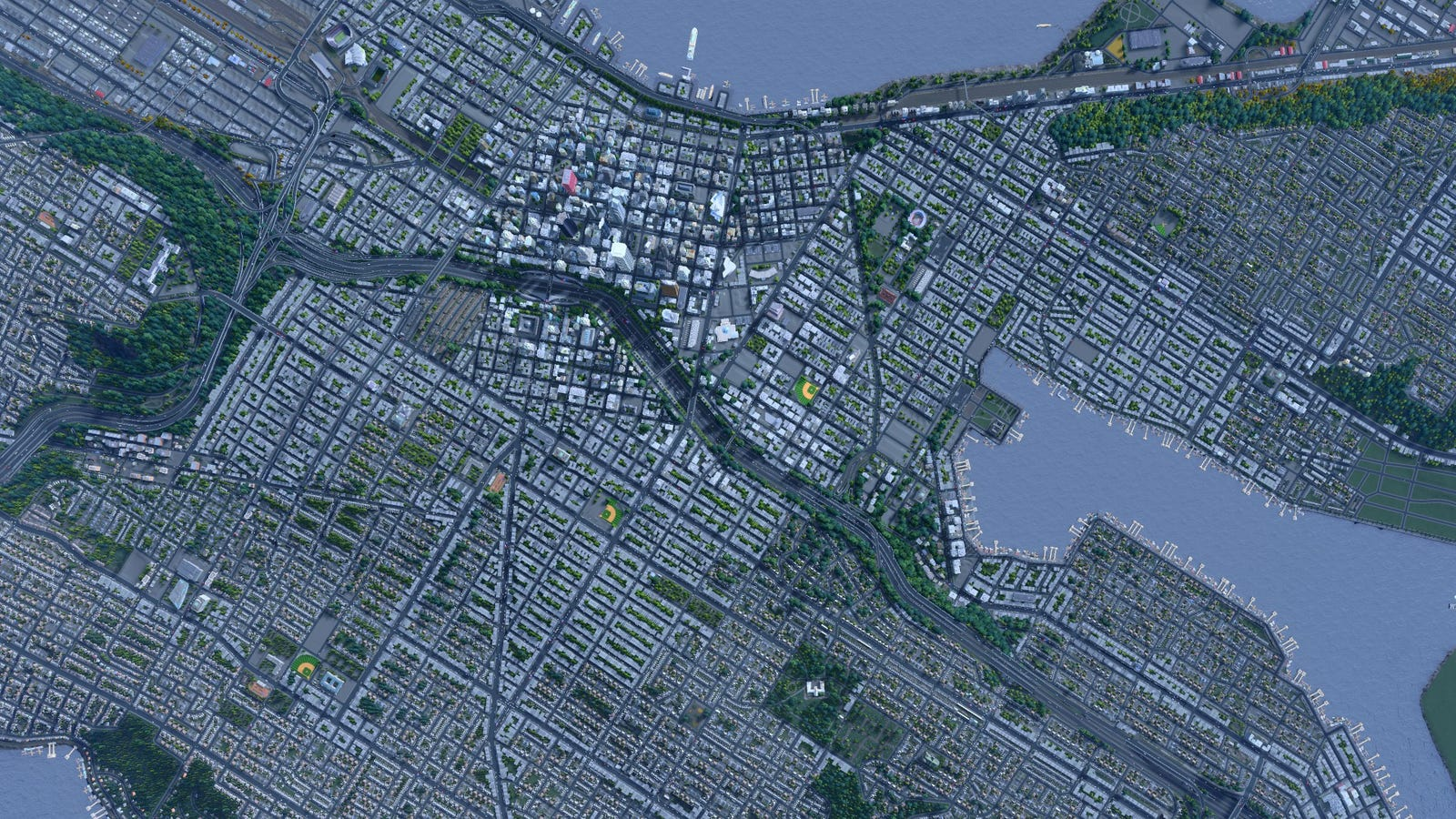 Seattle, Recreated Almost Perfectly In Cities: Skylines