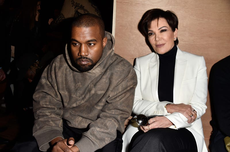 Kanye West and Kris Jenner attend the Givenchy show March 6, 2016, in Paris.