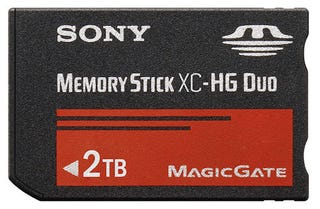 Illustration for article titled Massive 2TB MemoryStick XC Is Just Insane