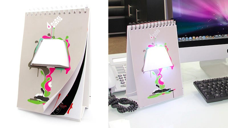Illustration for article titled You Can Doodle Any Design On This Notebook Desk Lamp