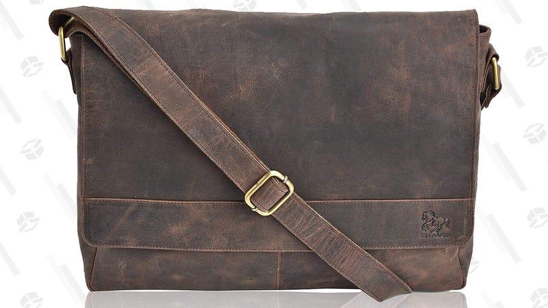"Leather 13"" Laptop Messenger Bag | $40+ | Amazon"