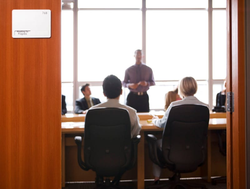 Illustration for article titled Everyone But You Attending Some Important Meeting In Other Room