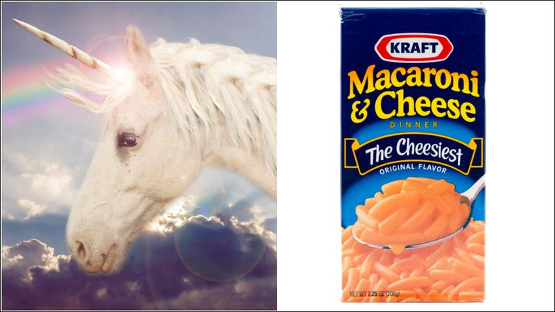 Illustration for article titled Kraft macaroni & cheese unicorns are real