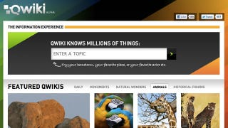 Illustration for article titled Qwiki Is Like a Mini, Visually-Rich Wikipedia That Reads to You