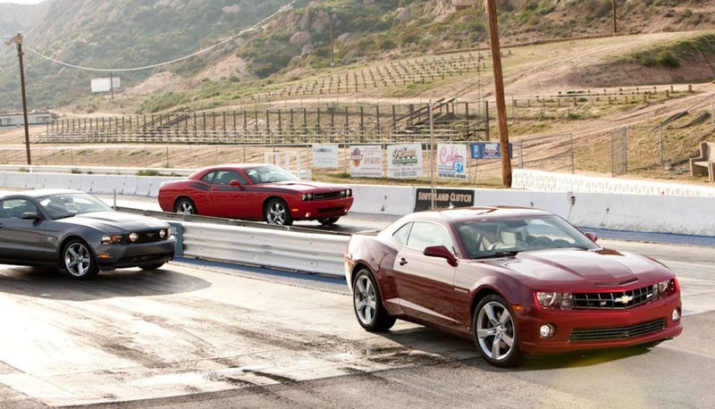 Illustration for article titled Shenanigans! Muscle Car Comparisons More Marketing Than Comparo