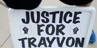 Justice for Trayvon rallies were held across the nation after George Zimmerman's acquittal. (Kevork Djansezian/Getty Images)